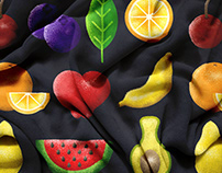 Fruits Illustration - Portfolio Project