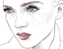 Make up sketching for a fashion blog