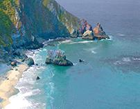 Big Sur Coastal Abstract