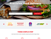 Restaurant Search & Order website home page