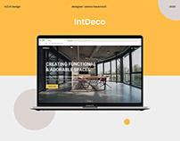 IntDeco Website Design