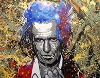 Retrato de Keith Richards (Rolling Stones)