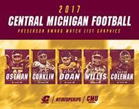 CMU Football - 2017 Preseason award watch list graphics