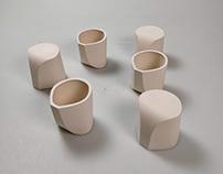 Design Doppio Coffee Cups: Slip casting