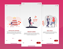 Wedding Planner - Onboarding Screens