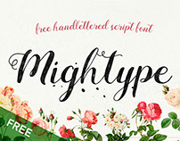 Mightype Script - Free Handlettered Font