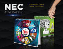 NEC 2014 Spring-Bind Table Calendar