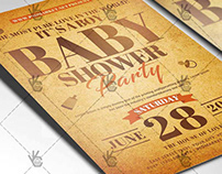 Royal Baby Shower Flyer - PSD Template