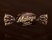 Malaga | Chocolate candies graphic design