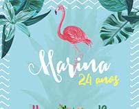 Convite - 24 anos da Mari (11/03/2017)
