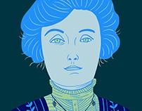 EMMELINE PANKHURST Portrait Illustration