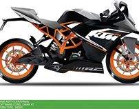 KTM Bike (Corel Draw) Mesh Work