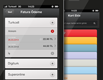 Turkcell Cuzdan UI Design