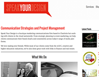 Speak Your Design WordPress Redesign