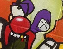 Pukee the clown (MURAL)