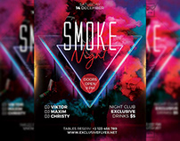 Smoke Night Flyer - Club PSD Template