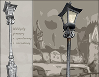 Street Lamp (low poly model)