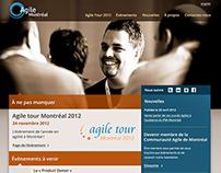 Design du thème Wordpress pour Agile Montréal