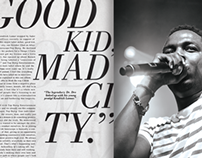 Kendrick Lamar: Compton's Finest (Editorial Design)