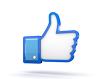 Facebook 3D Thumbs Up Like Icon