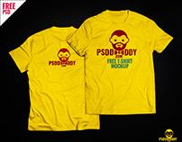 T-Shirt Mock-up Free PSD Download