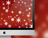 Christmas Snowflakes Wallpaper for Mac/PC