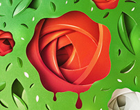 Alice in Wonderland Project - Painting roses red