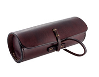 Cylindrical Leather Case for Sunglasses