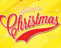 Waiting for Christmas Church Flyer Template