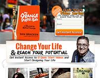 My Orange Duffel Bag Landing Page