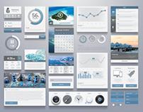 UI/UX Blue concept