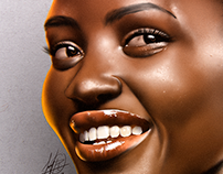 Lupita Nyong'o - Digital Illustration