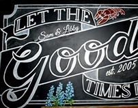 "Chalkboard ""Let the Goode Times Roll"""