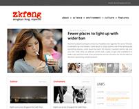 Demo blog website for Zkfeng