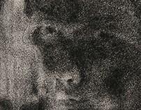 Self-Portraits (Dry Charcoal Series] 2015