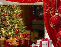 Glitterized Christmas Cards-Walls