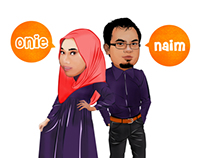 CARICATURE ILLUSTRATION : ONIE & NAIM