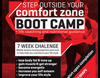 PENTAGON FITNESS bootcamp flyers