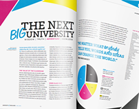 Mock Magazine-Style University Brochure