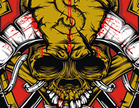 Letter S on Skull