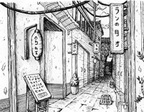 Japanese City Sketches