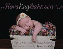 Nora's Birth Annoucement
