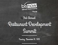 Restaurant Development Summit Brochure