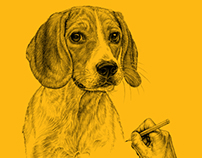Pedigree Dog Sketches Desk Calender 2013