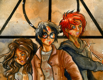 Harry Potter and the Deathly Hallows Illustration