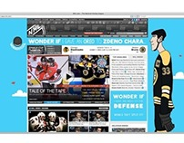 Digital 'NHL page takeover'