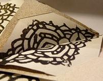 Christmas origami pockets
