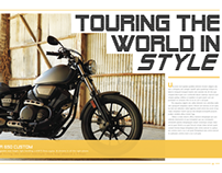 Motorcycle Magazine Spreads