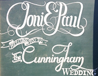 Typography & Chalk for a Beach Wedding