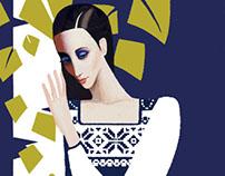 Russian Snow-maiden costume design/poster